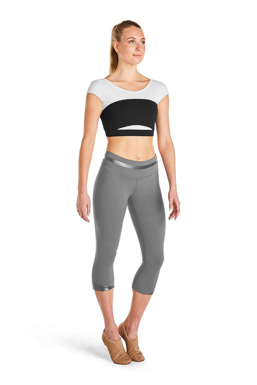 Ladies Waist Detail Three Quarter Legging
