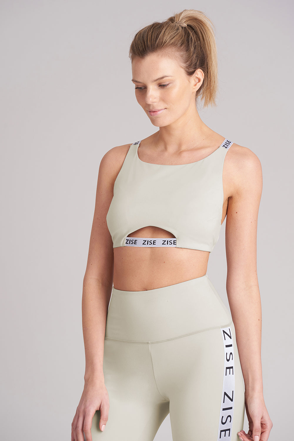 Zise Mimi Cross Back Crop Top