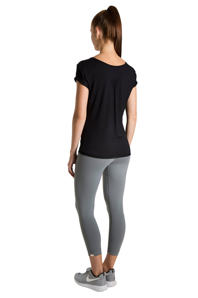 Ladies Roll Up Sleeve Active T Shirt