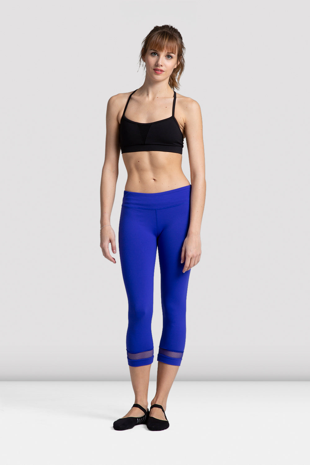 Ladies Mesh Trim Seven Eighths Legging