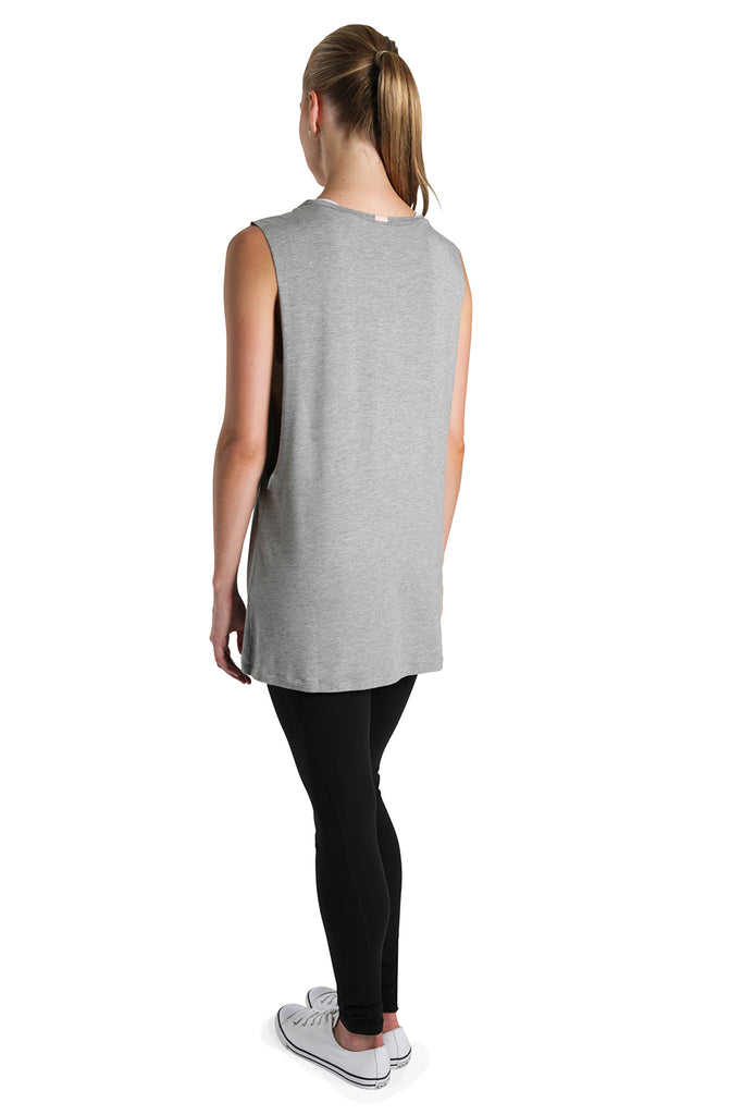 Ladies Tie Front Vest Top