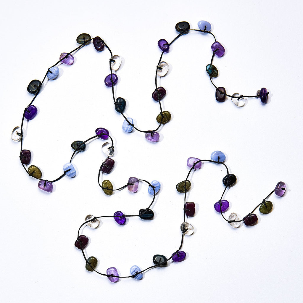Third Eye Chakra Stones Crystal Wrap Necklace - Intuition - i Love Chakra