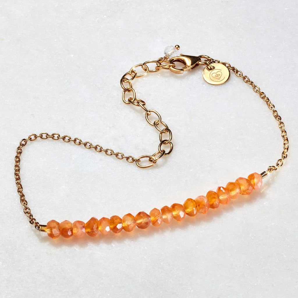 Crystal Beams Bracelet - Carnelian - i Love Chakra