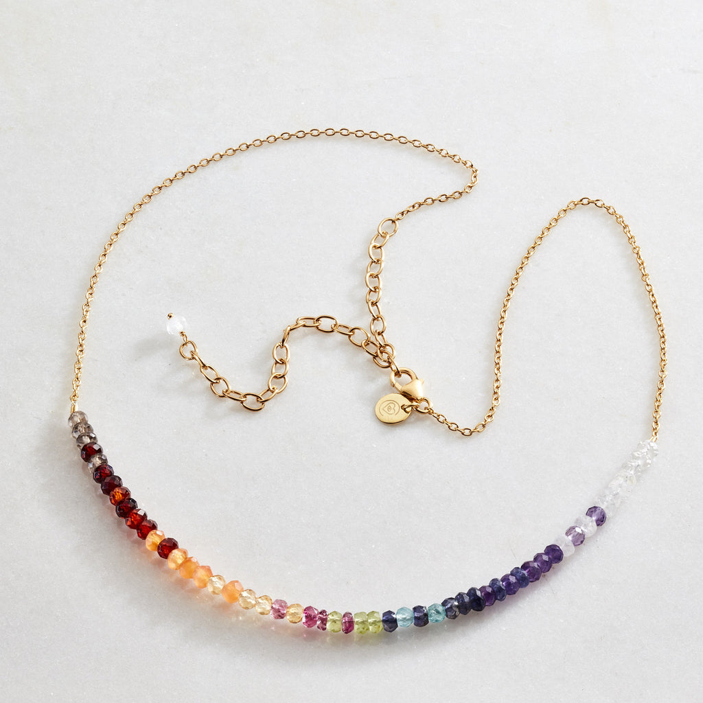 Namaste Crystal Beams Necklace - Balance - i Love Chakra
