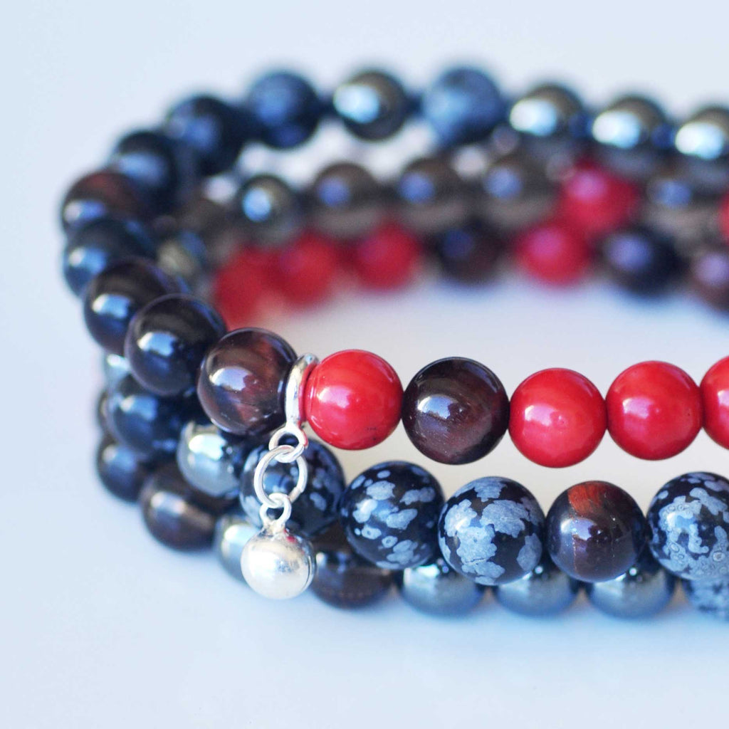 Root Chakra Bracelet Stack - Grounding & Strength
