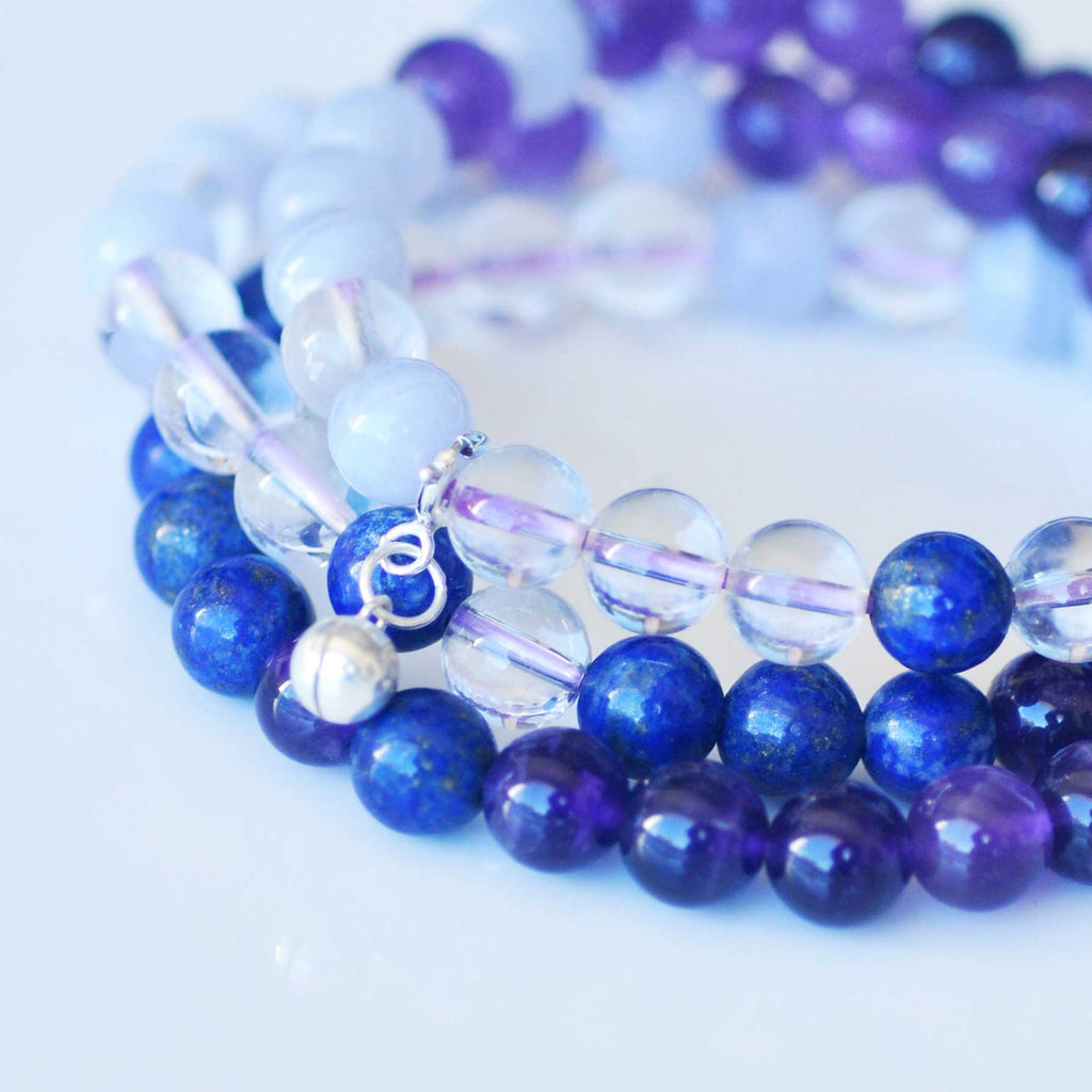 Third Eye Chakra Bracelet Stack - Intuition & Trust