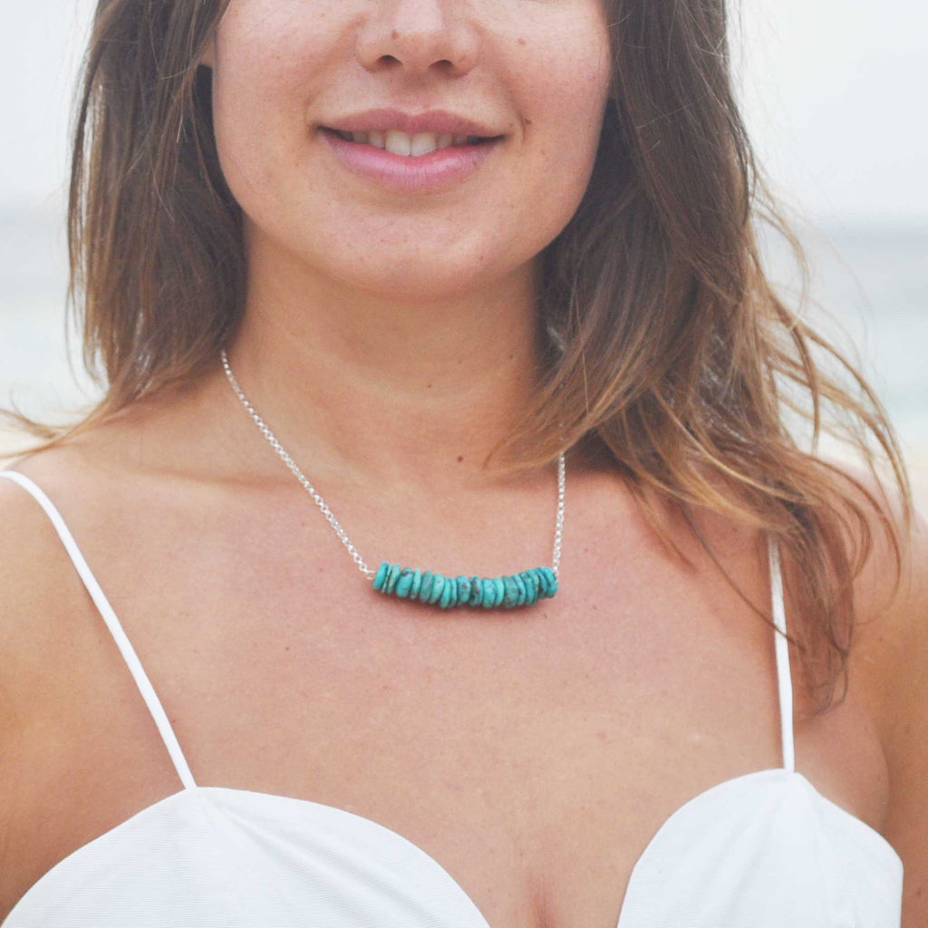 Turquoise Crystal Beams Necklace - i Love Chakra