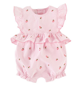 Rosebud Embroidered Infant Onesie