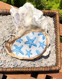 Starfish Hand Painted Oyster Shell