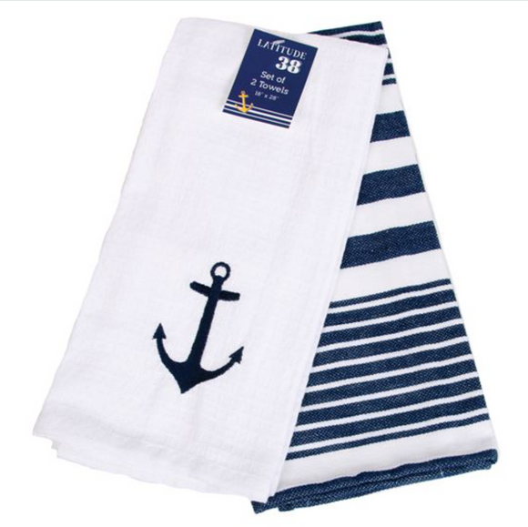 Woven and Embroidered Dish Towels