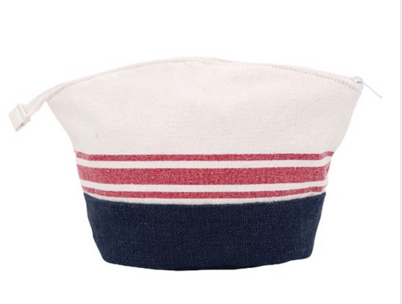 Nautical Striped Pouch