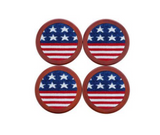 Old Glory Needlepoint Coasters