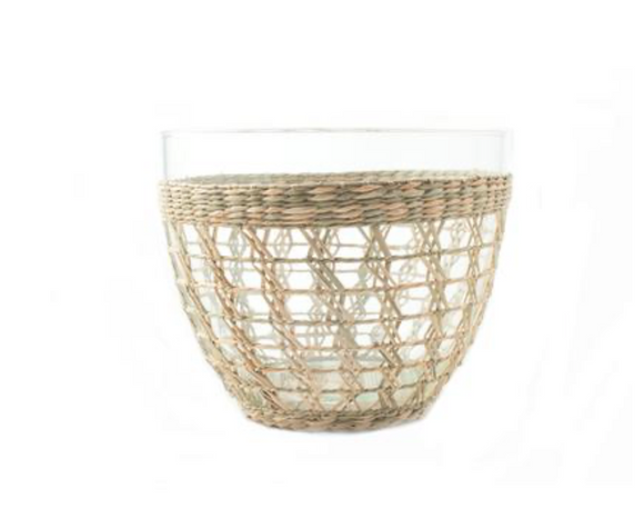 Medium Seagrass Cage Salad Bowl