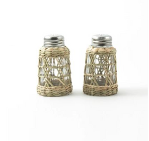 Seagrass Cage Salt & Pepper Shaker