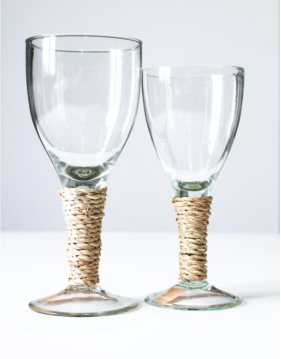Large Seagrass Wine Glass