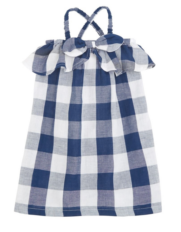 Gingham Bow Children's Dress