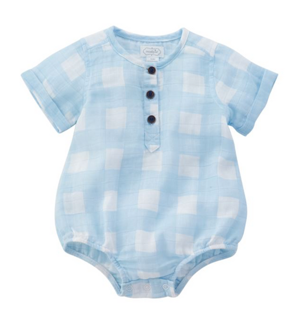 Large Checked Infant Onesie