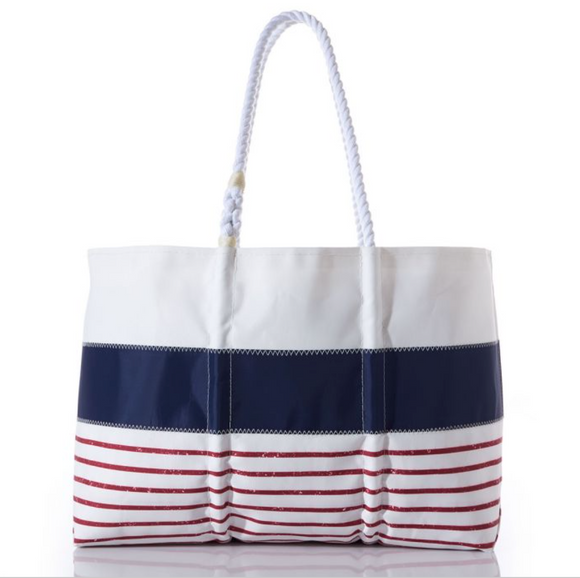 Mariner Stripe Medium Tote
