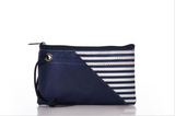 Breton Stripe Medium Wristlet