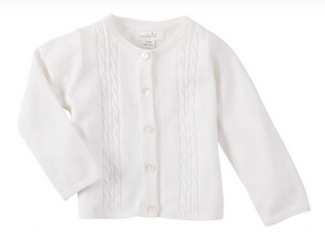 Cable Detail Infant Sweater