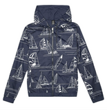 Newport to Honolulu Reversible Mens Hoodie
