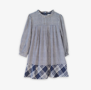 Myrtle Checked Toddler Dress