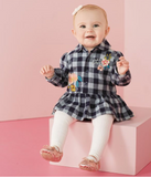 Gingham Embroidered Onesie