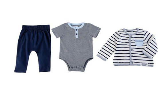 3 Piece Little Man Infant Set