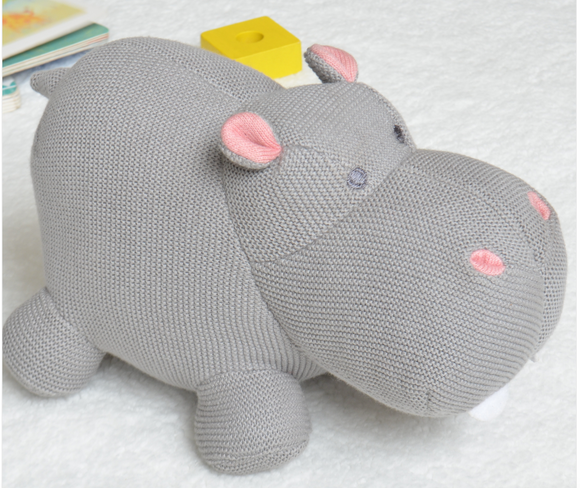 Henry The Hippo Knitted Toy