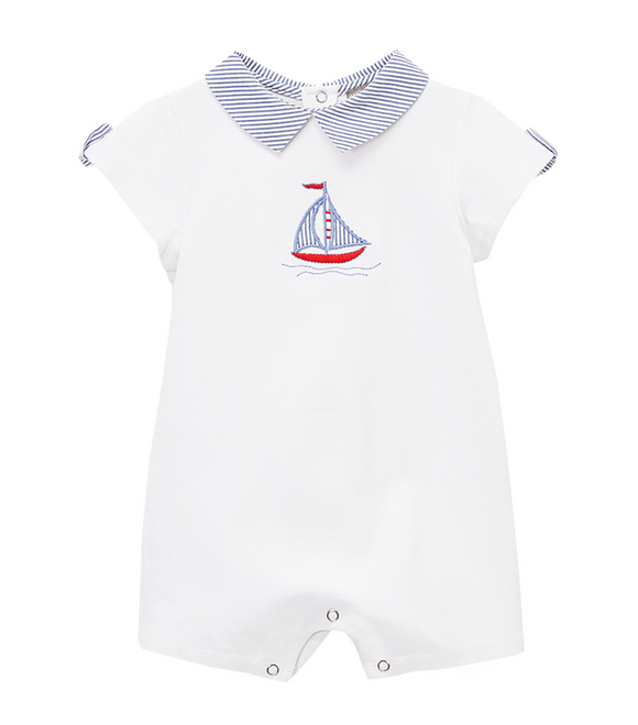 Sailboat Knit Infant Onesie