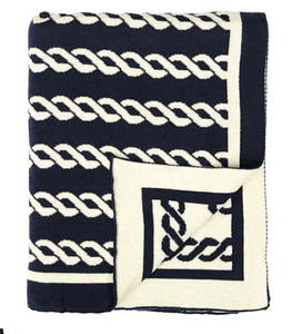 Nautical Rope Knitted Throw