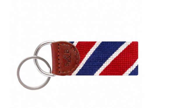 Patriotic Striped Key Fob