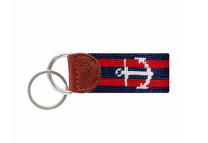 Striped Anchor Key Fob