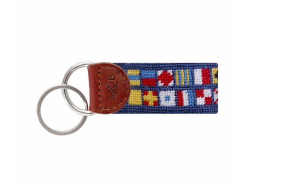 Nautical Alphabet Key Fob