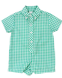 Checked Infant Onesie