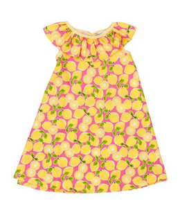 Lemon Print Children's Dress