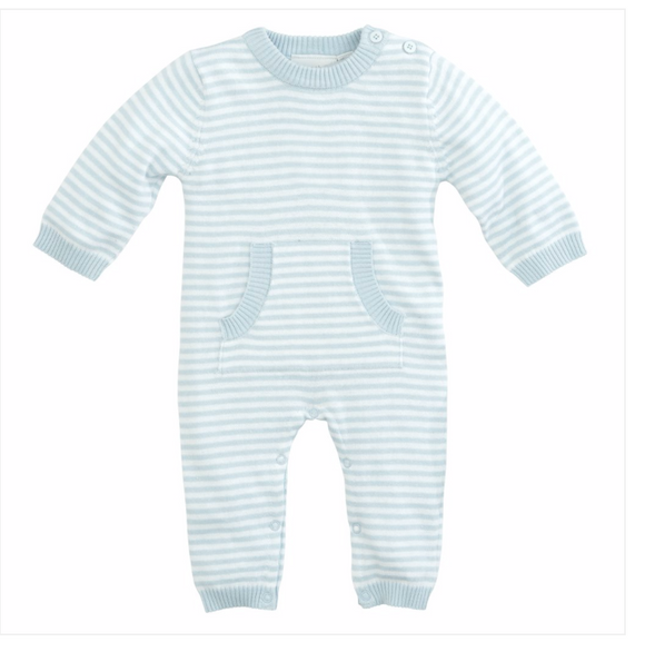 Striped L/S Sweater Knit Infant Onesie