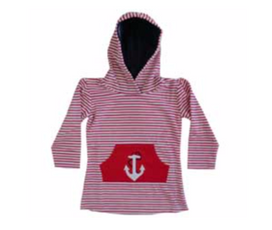 Anchor Hooded Towel Dress