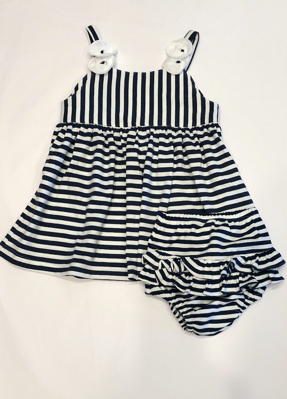 Striped Infant Dress Set