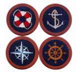 Nautical Life Needlepoint Coasters