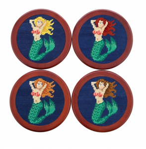Mermaids Needlepoint Coasters