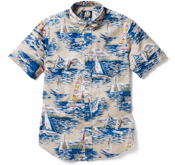 Following Sea Button Front Men's Shirt