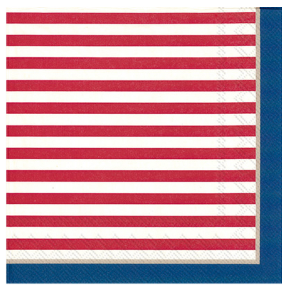 Top Stripes Lunch Napkins