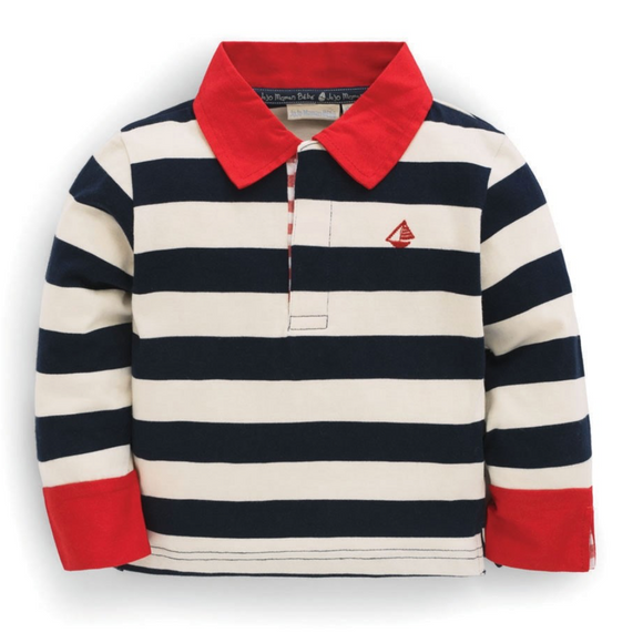 Rugby Striped L/S Children Tee