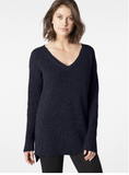Shaker V-Neck Ladies Sweater
