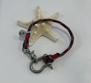Bow Shackle with Anchor Charm Bracelet