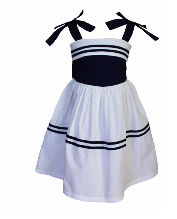 Bow Sailor Toddler Dress