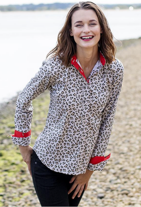 Rome Leopard Print Ladies Shirt