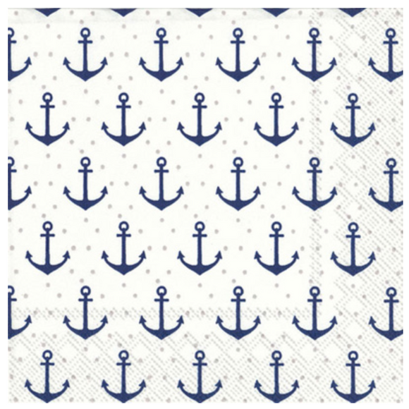 Anchor Dots Cocktail Napkins