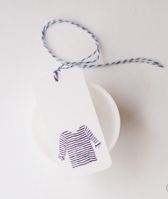Striped Shirt Gift Tags